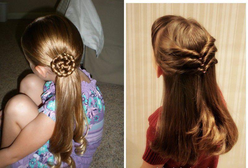 Прически для детей на длинные волосы с кудрями