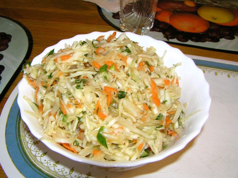 Капустный салат фото рецепт